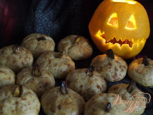 """Печенье """"Тыквочки"""" для Хеллоуина"""