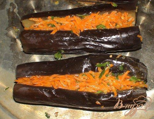 Соленые баклажаны с морковкой