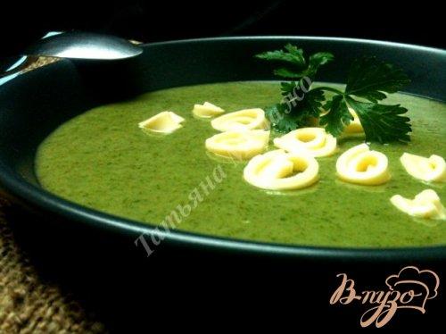 Шпинатный суп с грушами