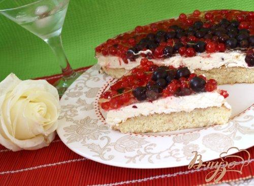 """Смородиновый торт """"Красное и чёрное"""""""