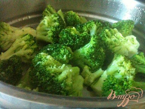 Салат из брокколи с редисом (+ салатная заправка из каперсов)