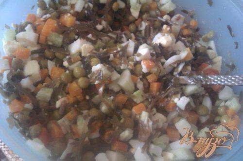 Необычный салат из морской капусты