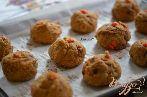 Тыквенные печенья в карамельной глазури