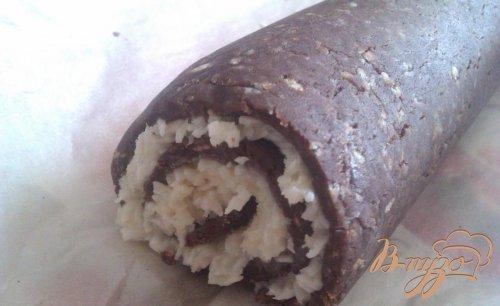 Шоколадно-кокосовый рулет
