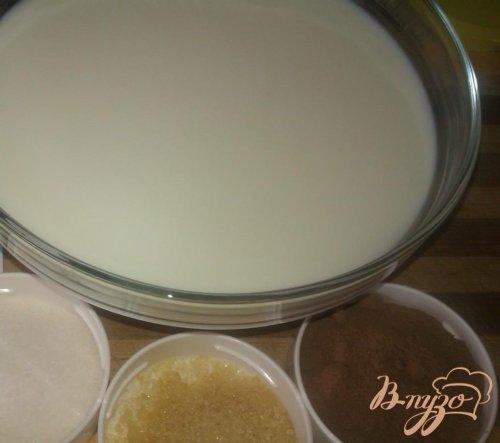 Слоеное молочно-шоколадное желе