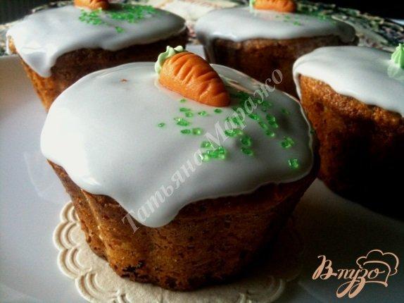 Рецепт Кексы морковно-имбирные с медом