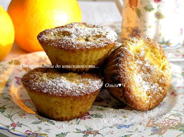 Рецепт Апельсиновые кексы с яблоками