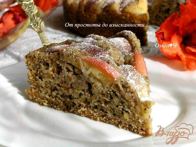 Рецепт Ореховый пирог с яблоками