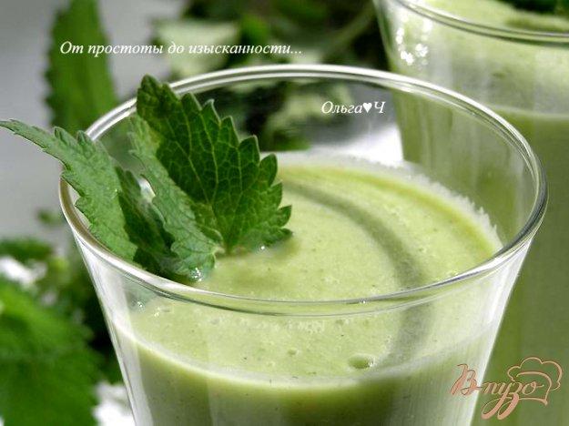 фото рецепта: Освежающий зеленый коктейль