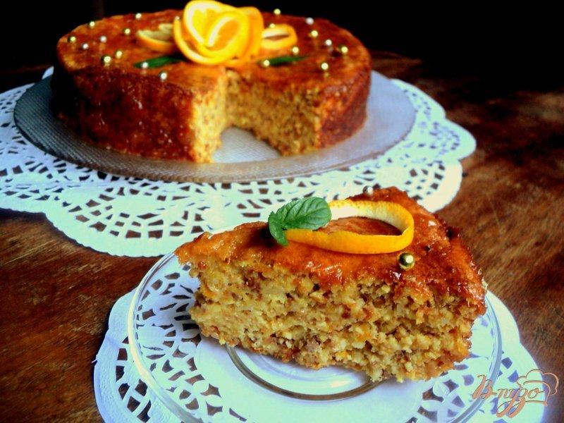 Фото приготовление рецепта: Апельсиновый торт шаг №12