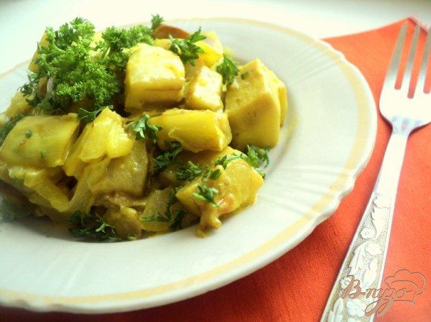 Рецепт Белые баклажаны, тушенные в сметане