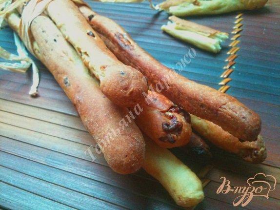 фото рецепта: Хлебные палочки с сыром