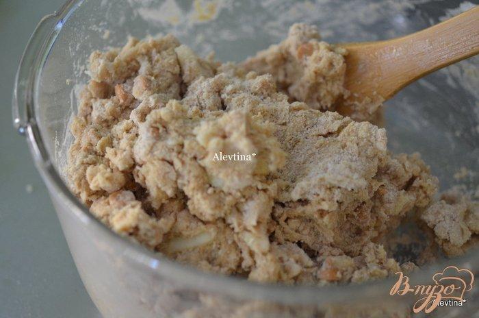Фото приготовление рецепта: Яблочные сконы шаг №4