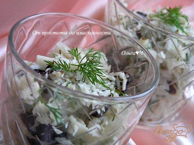 Рецепт Салат с квашенной капустой, черносливом и бразильским орехом