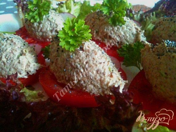 Рецепт Закуска из сардин с горохом нут