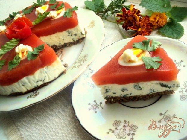 Рецепт Закусочный сырно-томатный торт