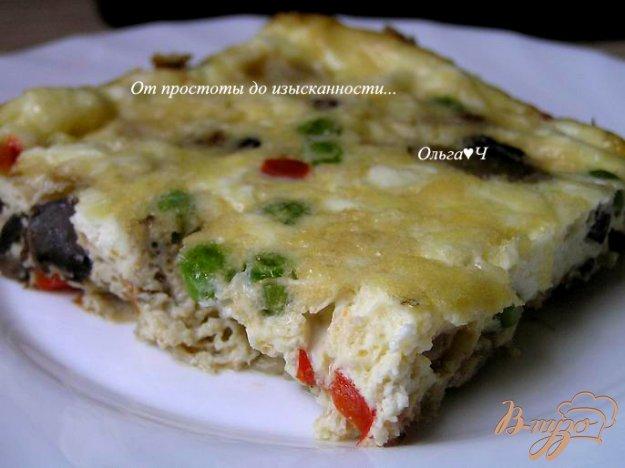 Рецепт Фриттата с грибами, овощами и сыром фета