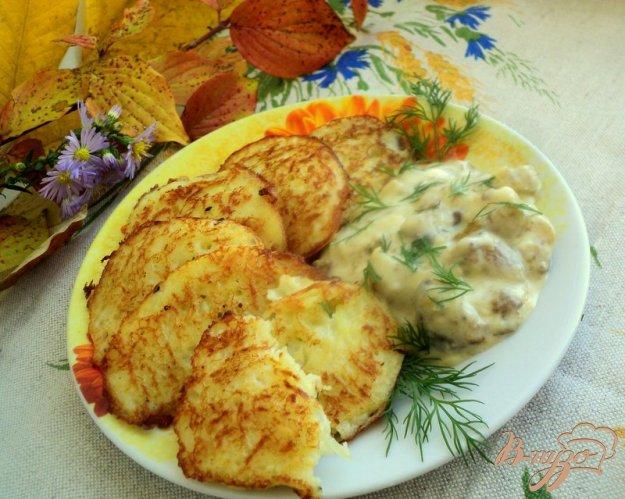 Рецепт Драники с грибным соусом