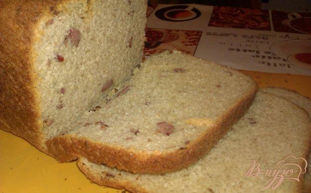 Рецепт Хлеб с копчеными колбасками сыром и чесноком