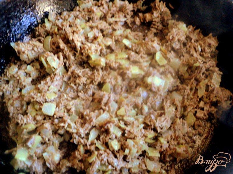 Фото приготовление рецепта: Блинчики с мясом шаг №4