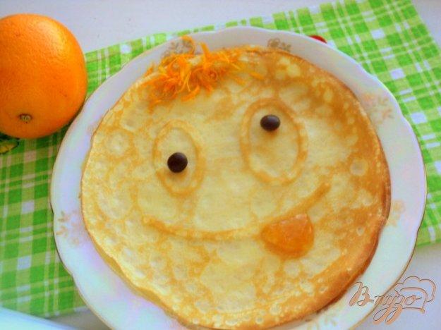 фото рецепта: Веселые апельсиновые блины