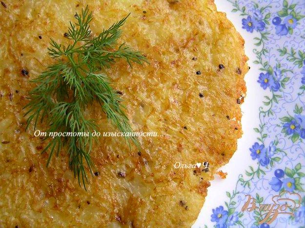 Рецепт Картофельная лепешка с чесноком и перцем
