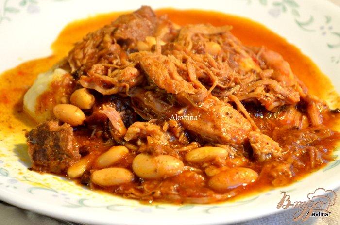 Фото приготовление рецепта: Суп со свининой и фасолью шаг №5