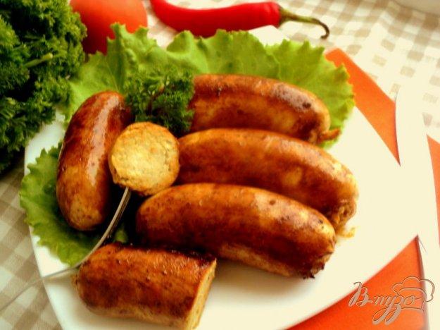 Рецепт Куриные колбаски с яблоками
