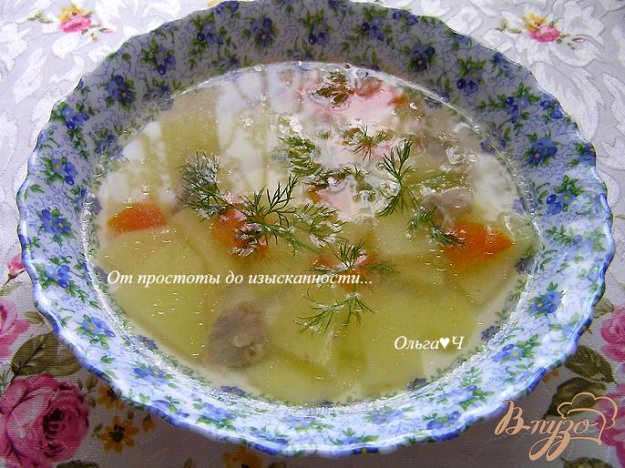 фото рецепта: Суп с курицей в мультиварке