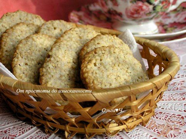 Рецепт Хрустящее кунжутное печенье
