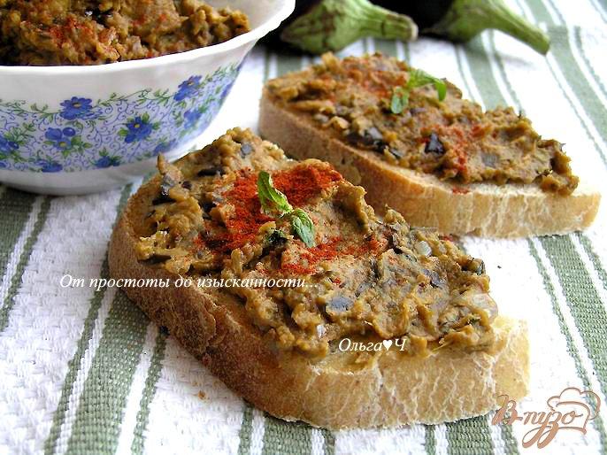 Фото приготовление рецепта: Баклажанный дип с мятой шаг №4