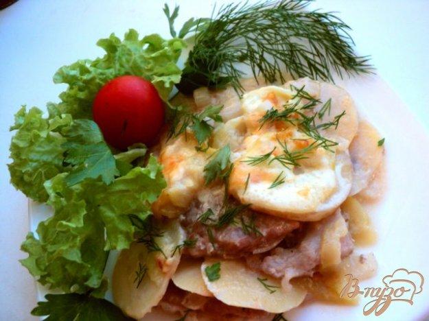 Рецепт Картофель, запеченный с кабачками и мясом