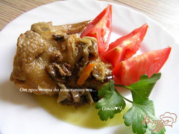 фото рецепта: Курица в сливочном соусе с грибами