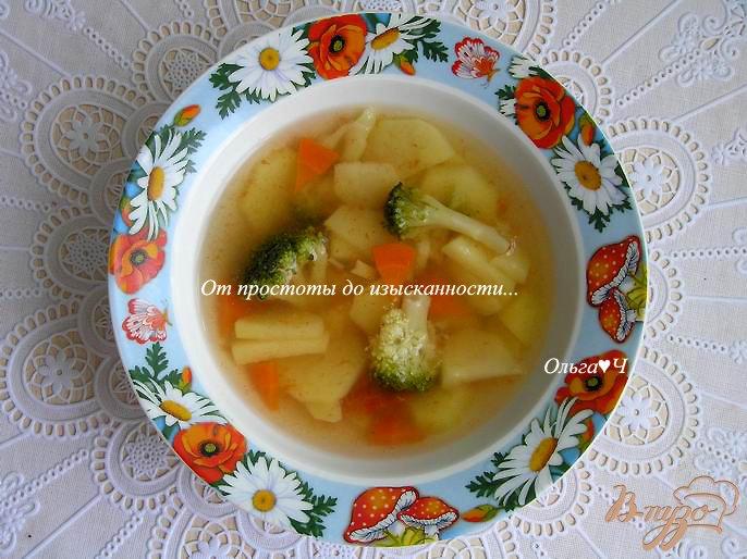 Фото приготовление рецепта: Овощной суп с брокколи шаг №5