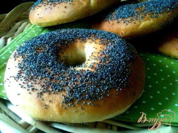 Рецепт Багель (хлеб в виде бубликов)