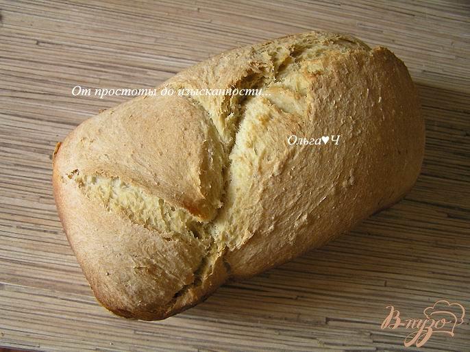 Фото приготовление рецепта: Хлеб с кукурузной мукой и овсяными хлопьями шаг №4