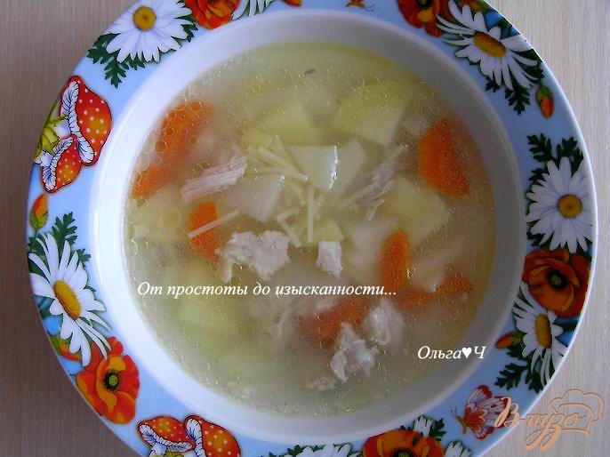 Фото приготовление рецепта: Куриный суп с вермишелью шаг №5