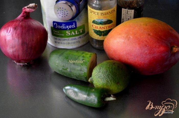 Фото приготовление рецепта: Семга с манговой сальсой шаг №1