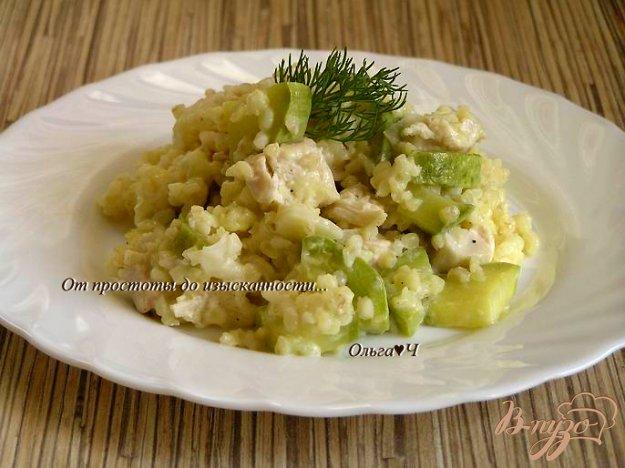 Рецепт Куриное филе с булгуром и кабачком в пароварке