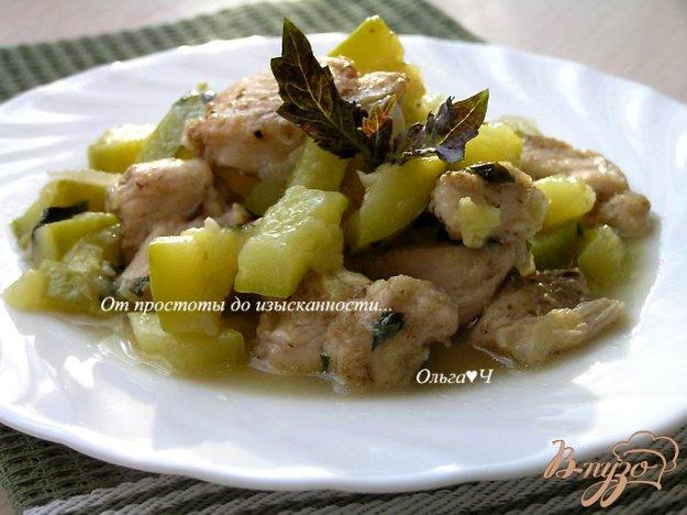 Рецепт Жаркое из курицы с кабачками