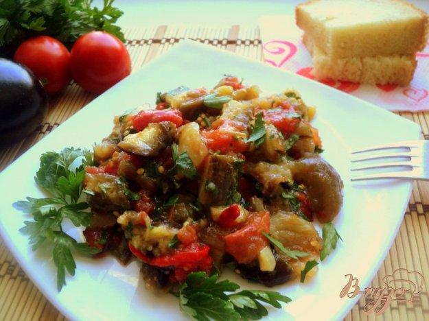 фото рецепта: Салат из запеченных баклажанов