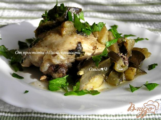 Рецепт Курица с баклажанами в мультиварке