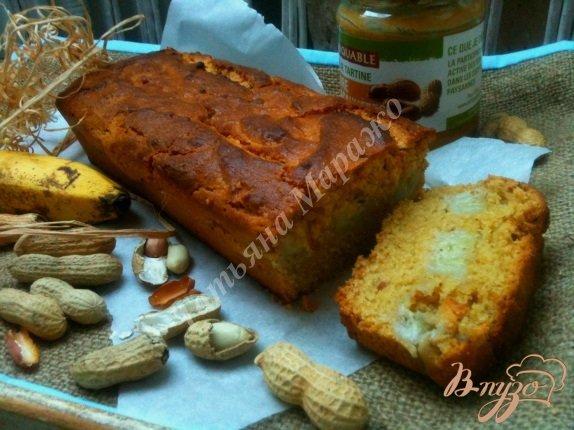 Рецепт Арахисовый кекс с бананами