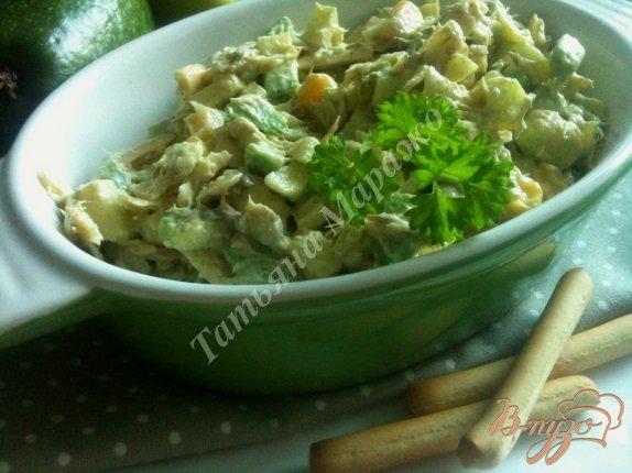 Рецепт Салат из авокадо с макрелью и сыром