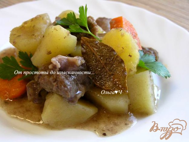 Рецепт Рагу из говядины с картофелем и майораном в мультиварке