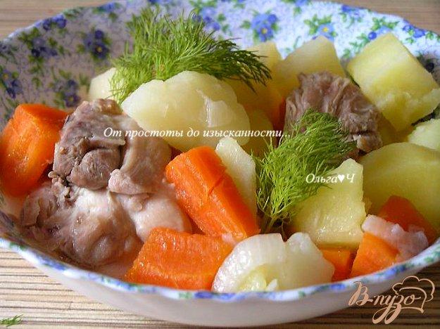 Рецепт Рагу из курицы с овощами