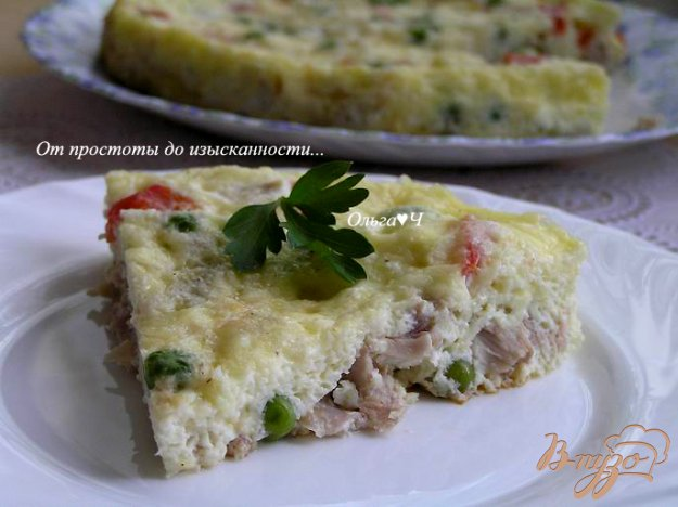 Рецепт Фриттата с курицей и овощами в мультиварке