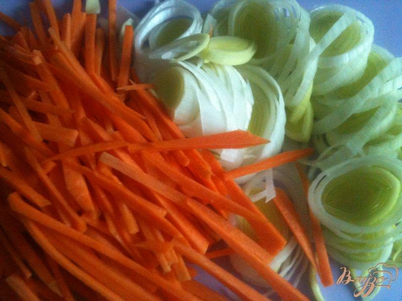 Фото приготовление рецепта: Овощной суп с картофельными галушками шаг №1