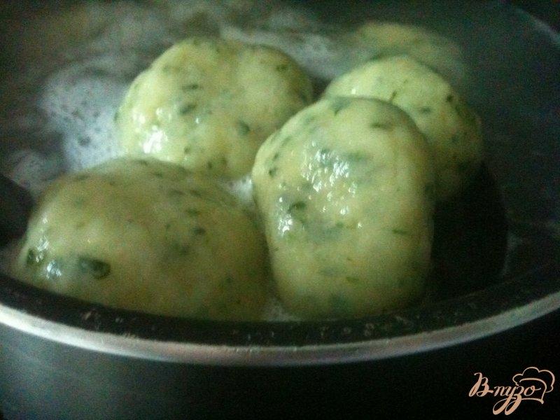 Фото приготовление рецепта: Овощной суп с картофельными галушками шаг №9