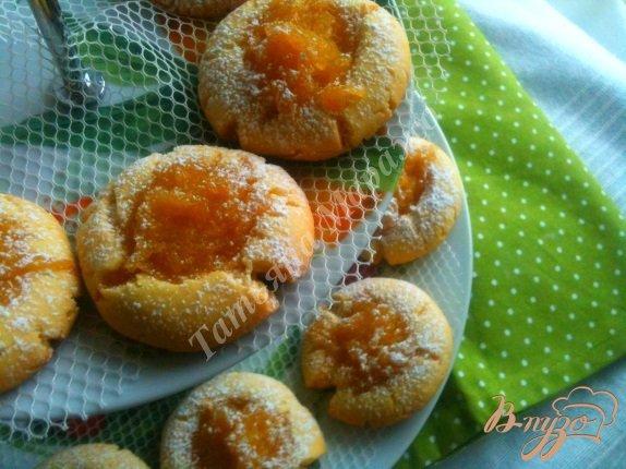 Рецепт Песочное печенье с яблочно-медовой начинкой